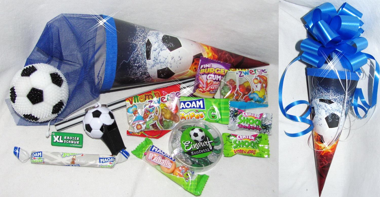 101627 Schultüte Soccer 22cm gefüllt mit Fussball zum Schulanfang