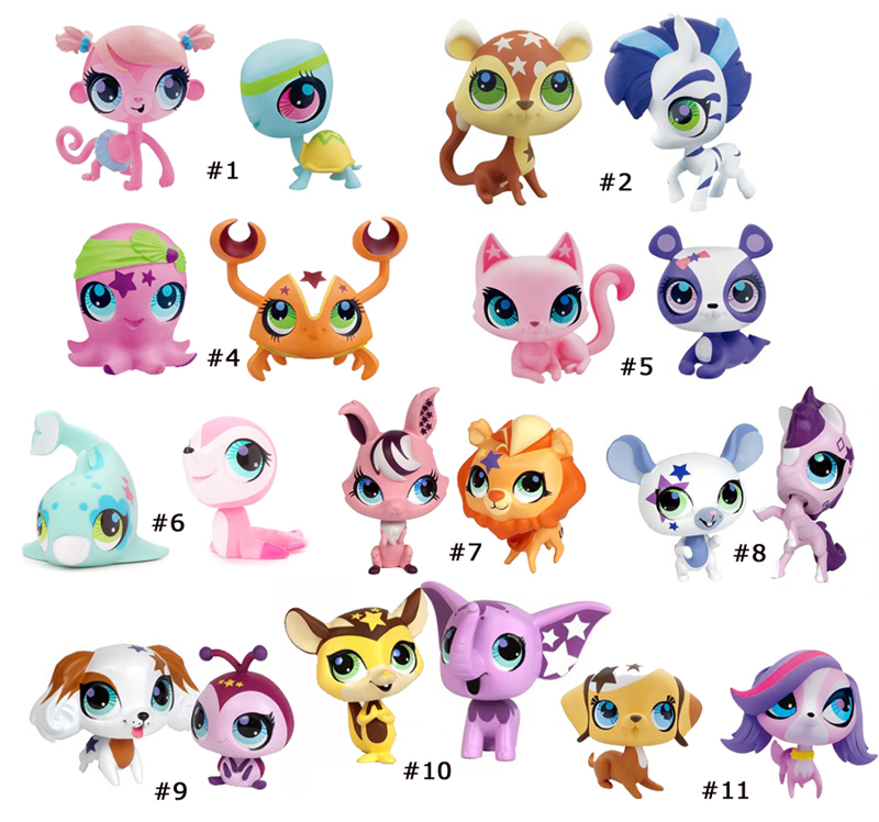 240025 LITTLEST PET SHOP TALENTIERTE TIERCHEN NEW LOOK DOPPELPACK