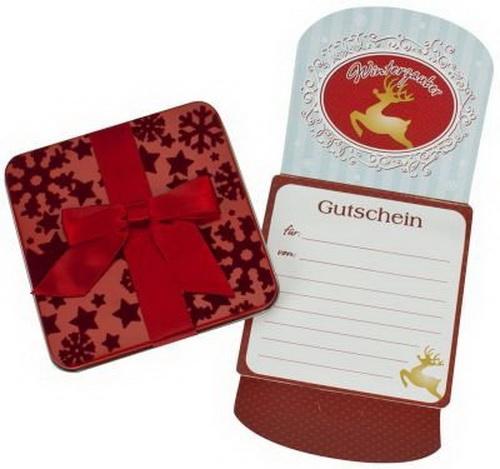 260170 WINTERZAUBER WEIHNACHTS GESCHENK GUTSCHEIN DOSE