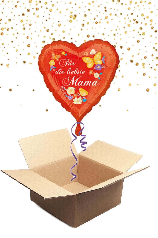 330221 Folienballon mit Helium gefüllt Herz - Für die liebste Mama