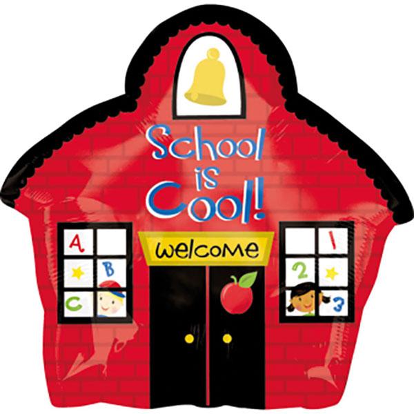 330234 Helium Folienballon Schulhaus School is Cool gefüllt