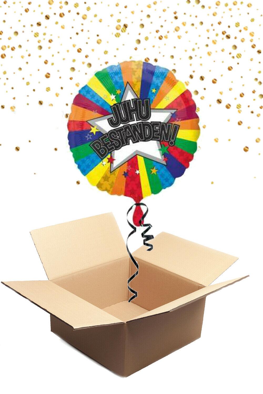 330235 Helium Folienballon Juhu Bestanden 43cm gefüllt