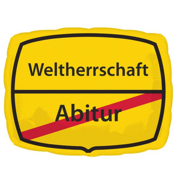 330237 Helium Folienballon Abitur - Weltherrschaft gefüllt